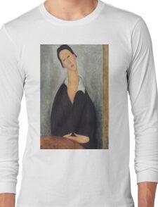 Amedeo Modigliani - Portrait of a Polish Woman 1919 Woman Portrait  Fashion  Long Sleeve T-Shirt