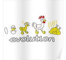 Chicken Evolution Poster