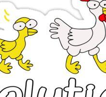 Chicken Evolution Sticker