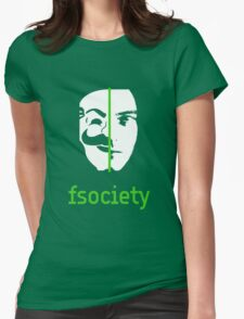 We Are The fsociety Womens Fitted T-Shirt