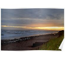 Day's ending at Cavendish Beach Poster