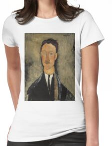 Amedeo Modigliani - Portrait of the Artist Leopold Survage 1918 Italian  Elegant Man Portrait Fashion  Womens Fitted T-Shirt
