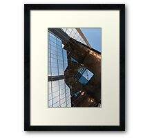 Glass, Copper and Steel Geometry - Fabulous Modern Architecture in London, UK - Vertical Framed Print