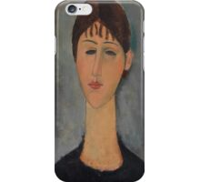 Amedeo Modigliani - Portrait of Mme Zborowska 1918 Woman Portrait Italian Fashion  iPhone Case/Skin