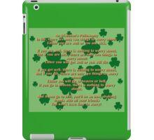 An Irishmans Philosophy iPad Case/Skin