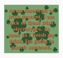 As An American Of Irish Descent One Piece - Short Sleeve