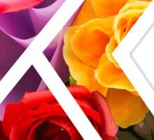 The Letter K - Flowers Sticker