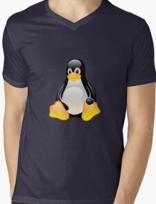 Linux Logo Mens V-Neck T-Shirt