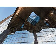 Glass, Copper and Steel Geometry - Fabulous Modern Architecture in London, UK - Horizontal  Photographic Print