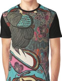 Cherry Blossom geisha Graphic T-Shirt