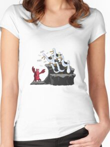 The crab is mine! Women's Fitted Scoop T-Shirt