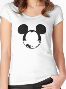Mouse Cartoon Women's Fitted Scoop T-Shirt