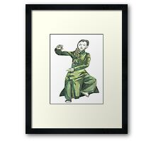 Martial Arts Lady 2 Framed Print