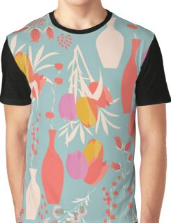 Spring flower pattern, tulips and lilies, 004 Graphic T-Shirt