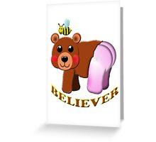 bee bear believer Greeting Card