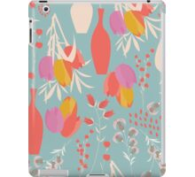 Spring flower pattern, tulips and lilies, 004 iPad Case/Skin