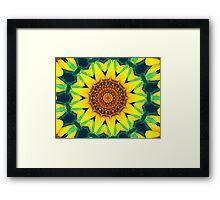 Fun Sunflower Abstract Framed Print