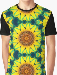 Fun Sunflower Abstract Graphic T-Shirt
