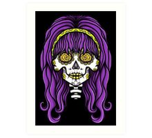 Alternative Hippy Skull Art Print