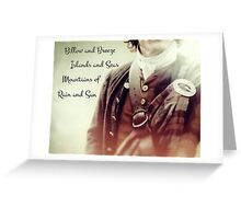 Outlander/Jamie Fraser/Opening song Greeting Card
