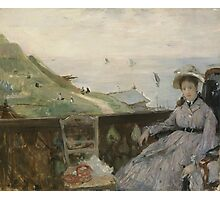 Berthe Morisot - On the Terrace 1874 Woman Portrait  Photographic Print