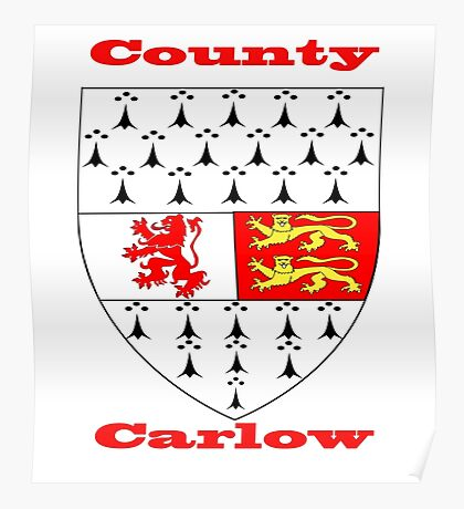 County Carlow Coat of Arms Poster