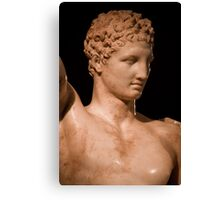 Greece. Ancient Olympia. Hermes by Praxiteles. Detail. Canvas Print