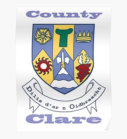 County Clare Coat of Arms Poster