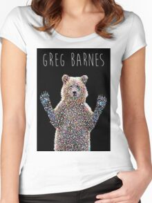 Greg The Bear  Women's Fitted Scoop T-Shirt