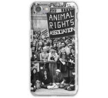 Animal rights protest, London iPhone Case/Skin