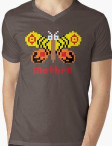 Mothra Pixel Mens V-Neck T-Shirt