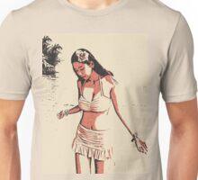 At the beach - sexy hula girl Unisex T-Shirt