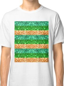 Irish Glitter Stripes Classic T-Shirt