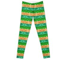 Irish Glitter Stripes Leggings