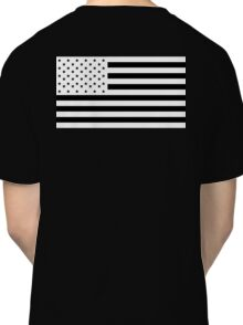 American Flag, NEGATIVE, America, Americana, on black, Stars & Stripes, Pure & Simple, USA Classic T-Shirt