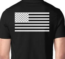 American Flag, NEGATIVE, America, Americana, on black, Stars & Stripes, Pure & Simple, USA Unisex T-Shirt