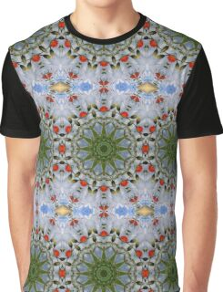 Red Poppies, Floral mandala-style, Nature Flower Mandala Graphic T-Shirt
