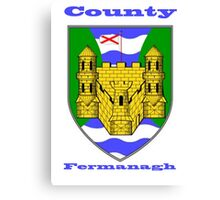 County Fermanagh  Coat of Arms Canvas Print