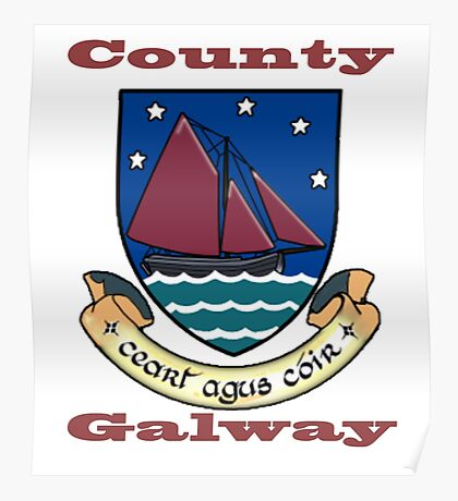 County Galway Coat of Arms Poster