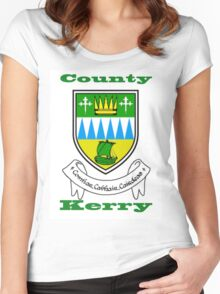 County Kerry Coat of Arms Women's Fitted Scoop T-Shirt