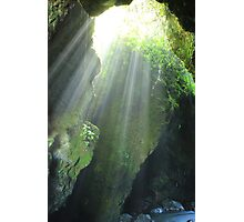Sunlight Streaming Into a Cave Photographic Print