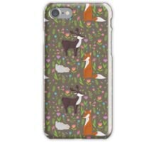 Forest flowers and animals iPhone Case/Skin