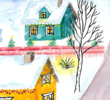 Veerantie Christmas Scenery Painting Sticker