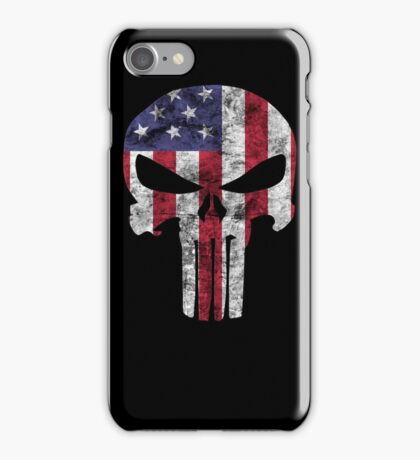 I am only in a jeep USA American Punisher iPhone Case/Skin