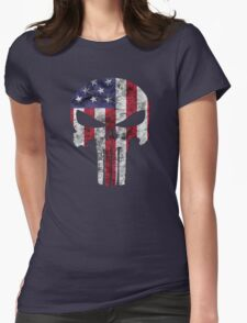 I am only in a jeep USA American Punisher Womens Fitted T-Shirt