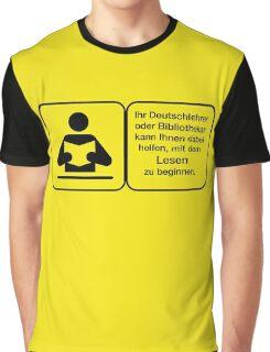 Vector Warnung Deutsch Deutschlehrer Graphic T-Shirt