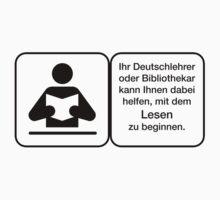Vector Warnung Deutsch Deutschlehrer Kids Tee