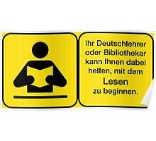 Vector Warnung Deutsch Deutschlehrer Poster