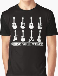 Choose Your Weapon Guitar Funny retro music guitarist metal Graphic T-Shirt