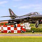 """Hawker Hunter T.7A WV318/D G-FFOX """"Black One"""" by Colin Smedley"""